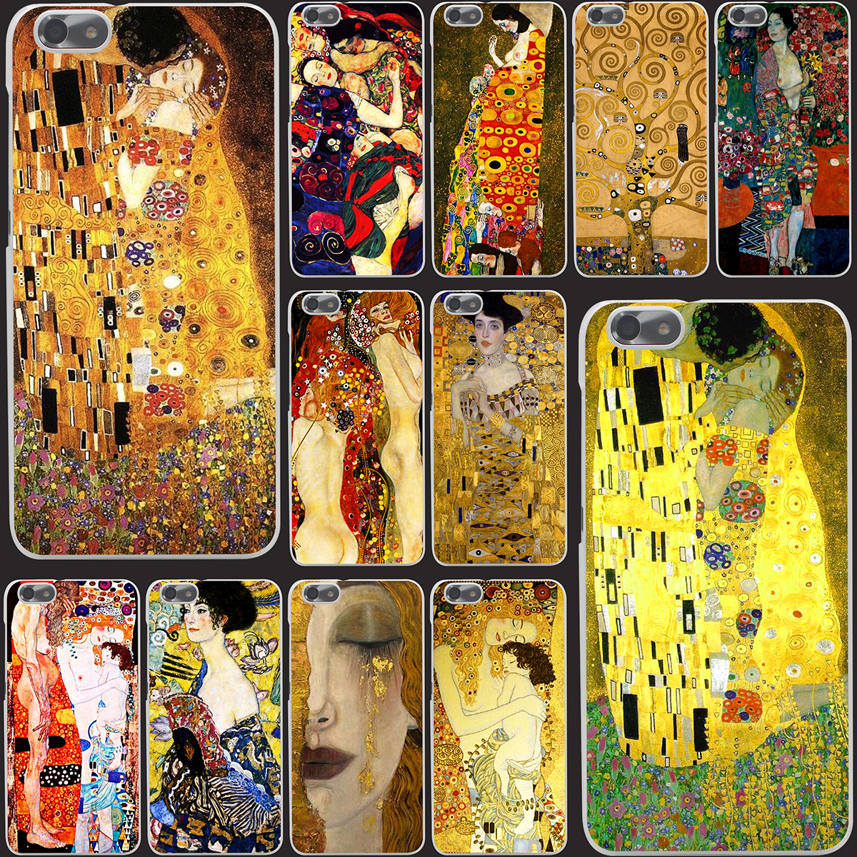 8731-OIE Kiss by Gustav Klimt Hard Case Cover for Huawei P6 P7 P8 Lite P9 Lite Plus & Honor 6 7 4C 4X G7