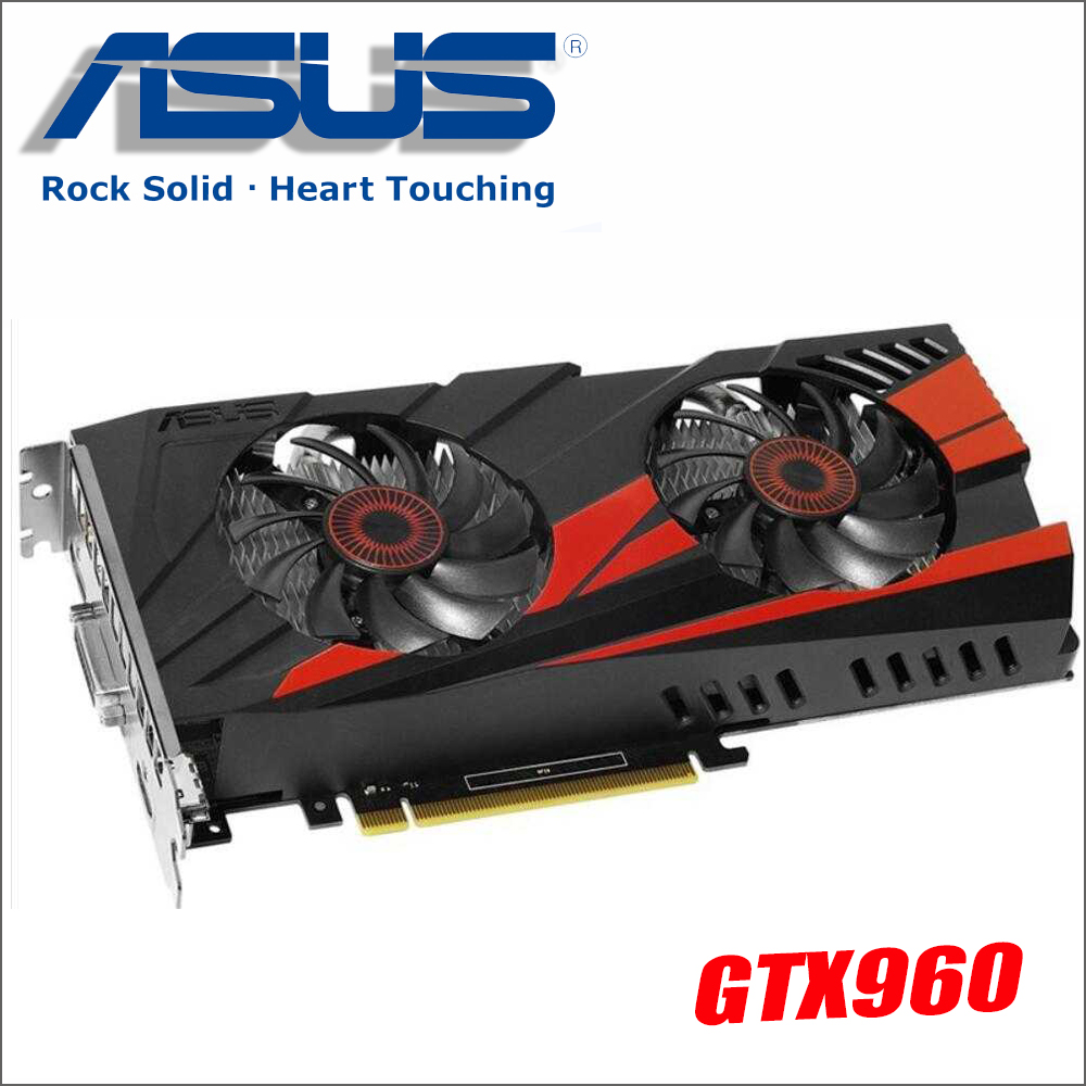 Used ASUS GTX960-DC2OC-2GD5 Video Card GTX 960 2GB 128Bit GDDR5 Graphics Cards for nVIDIA VGA Geforce Hdmi Dvi game GTX960 nvidia geforce graphics cards gtx750 2gb gddr5 128bit game cards 1120 5000mhz stronger gt740 gtx650
