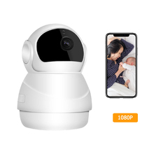 1080P Full HD WiFi IP Camera, Home Security Surveillance Camera With Two Way Audio, Infrared Night Vision For Baby/Elder Monitor 1080p hd ip camera wifi camera wifi video surveillance camera night vision home security camera two way audio baby monitor p2p