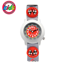 JACQUES FAREL Kids Children watches fashion cute simple water resisitant Quartz Wristwatches Boys clock car speed red