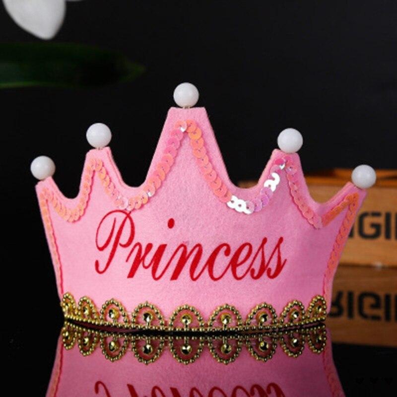 Красочные светодиодные День рождения с головным убором Детские корона украшения для душа реквизит для фотосессии - Цвет: E