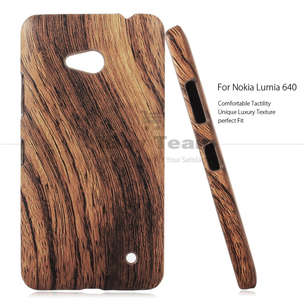 factory authentic 0b1b9 afc8b US $3.16 10% OFF Shockproof Cases for Microsoft Lumia 640 LTE Case Ultra  Slim Wooden Pattern Back Cover for Microsoft Lumia 640 Protective Shell-in  ...