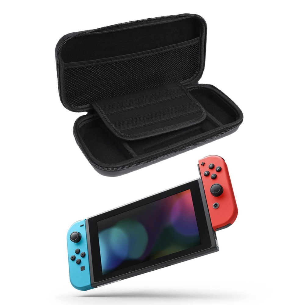 все цены на EVA Hard Bag Storage Travel Carry Pouch Cover for Nintendo Switch for NS Nintend Switch Protective Case Black Blue