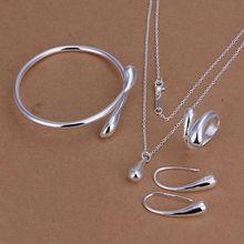 Заводская цена, лучшие ювелирные изделия, посеребренные ювелирные наборы, ожерелье, браслет, серьги, кольцо, SMTS222