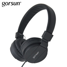 Wholesale GORSUN Headphones For Computer PC Sport Noise Canceling Headphone Wired Foldable 3.5mm Earphone For Phone For Xiaomi Headfone
