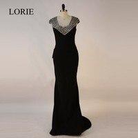 Black Graduation Dresses LOIRE Mermaid Prom Dress Long 2017 Abendkleider Crystal Bead Formal Evening Gowns Dresses