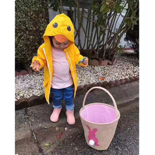 Kids Baby Coat Cartoon Animal Design Solid Yellow Colour Hooded Jacket Outerwear Windbreaker Raincoat Autumn Boys Girls Jacket