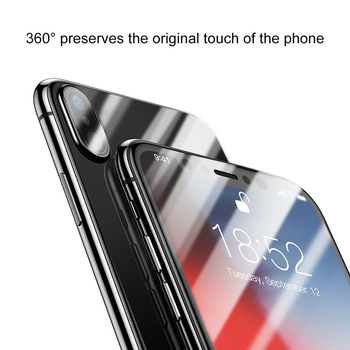 Baseus Front Screen Protector + Back Tempered Glass For iPhone Xs Xs Max XR 2018 Protective Glass 9H Thin Full Coverage Glass 3