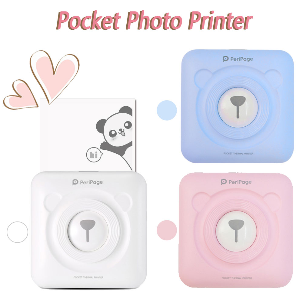 PeriPage Mini Portable Bluetooth Photo Printer Pocket Thermal Picture Printer For Mobile Phone Android IOS Windows