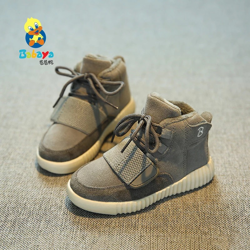 2016 brand design fashion warm flock tenis sport boys school infantile sneakers children girl ankle snow boots kids Winter shoes babyfeet 2017 winter children shoes fashion warm suede leather sport running school tenis girl infant boys sneakers flat loafers