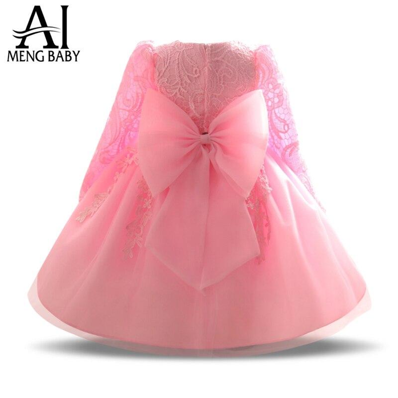 Ai Meng Baby Spitze Kleinkind Mädchen Taufe Kleid Infant Taufe Kleid 1 Jahr Geburtstag Baby Mädchen Outfits Kinder Party Kleider mädchen