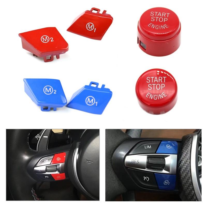 Car Steering Wheel M1 M2 Mode Switch Button For BMW M3 M4 M5 M6 X5M X6M F80 F82 F83 F10 F15 F16 F30 F32 F34 F36 F06 F12 M Sport