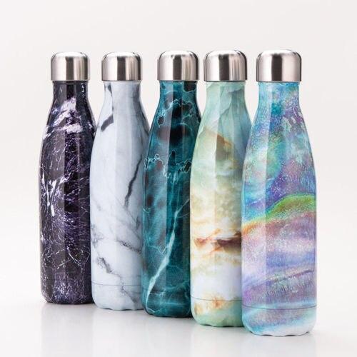500 ml Bottiglia di Acqua di Vuoto Isolamento Termico di Sport Freddo Freddo Tazze di Nuovo In Acciaio Inox di Caffè Tè di Acqua Calda Isolato
