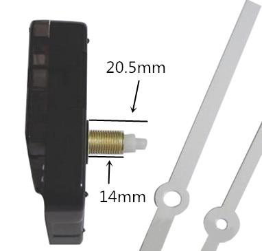 50pcs 3 years warranty DIY Kit Mechanism For Clock Parts Wall Clock Quartz Hand Quartz Clock Movement Home Decoration in Clock Parts Accessories from Home Garden
