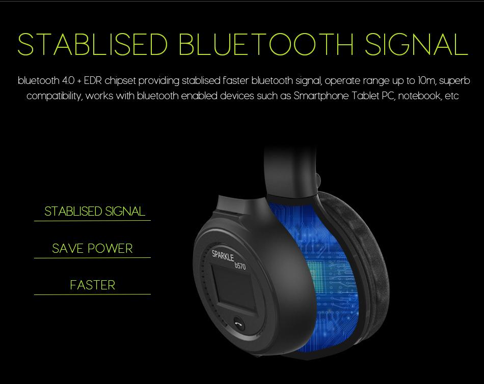фанатик b570 стерео стерео bluetooth для беспроводной наушники гарнитура с микрофоном поддержка с FM радио микро-SD карты играть
