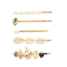 Amazing Simulated Pearl Hair Clips Natural Shell Hair Barrettes Alligator Hairpins Vintage  Accessories  Women Hairstyle Jewelry europe trendy hair clips for women starfish shell shape 2 color metal sticks pearl hairpins jewelry gift for girlfriend yha007