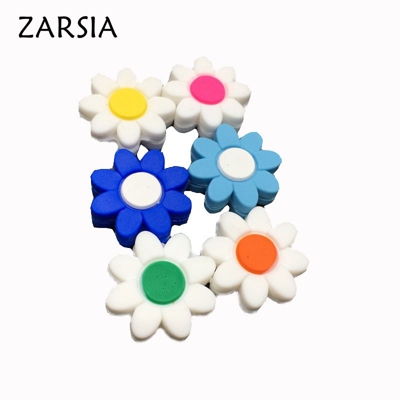 10 Pcs Colors Flowers Tennis Damper Shock Absorber To Reduce Tenis Racquet Vibration Dampeners