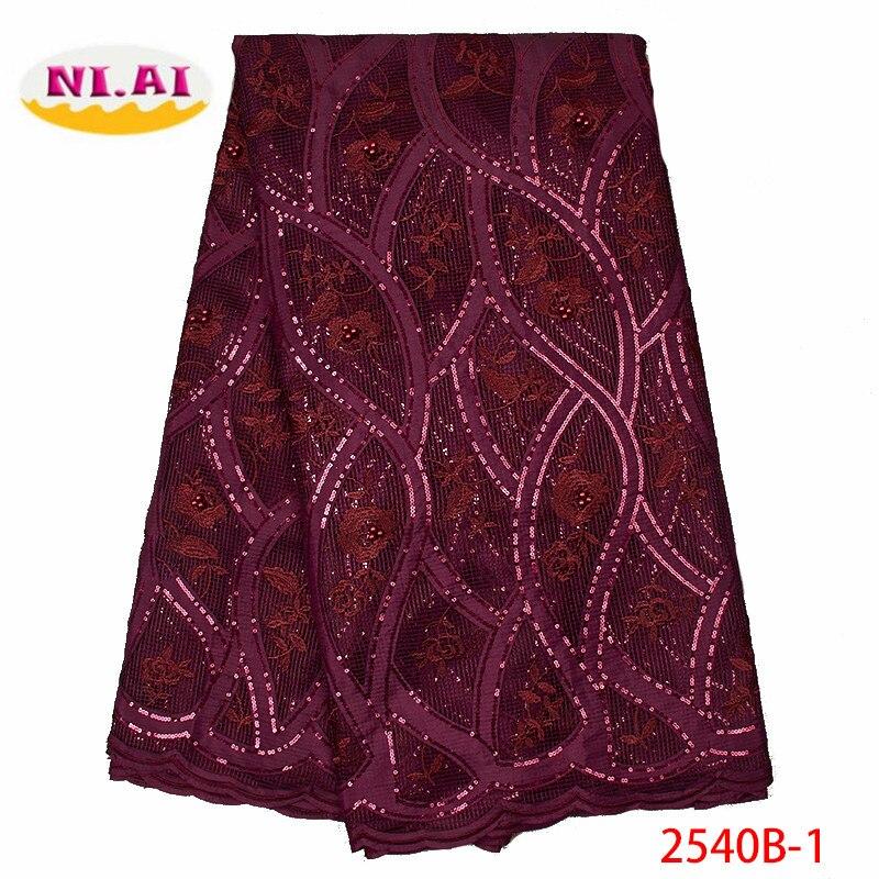 Afryki cekiny koronki tkaniny nigerii koronki tkanina z cekinami francuski koronki tkaniny 2019 wysokiej jakości do sukni ślubnej XY2540B 1 w Koronka od Dom i ogród na  Grupa 1