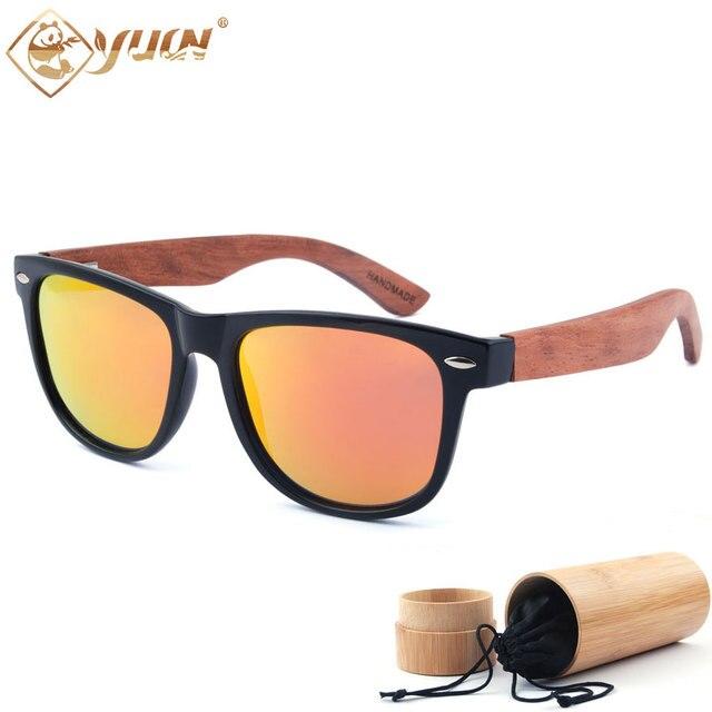 Новые горячие деревянные очки мужчины классический ручной деревянные очки мода поляризованный вождения солнцезащитные очки для мужчин женщин 1501