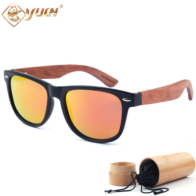 New hot wood sunglasses men classic handmade wooden glasses fashion polarized driving sun glasses for men women 1501