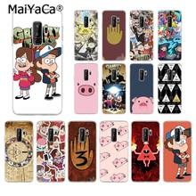 MaiYaCa Cartoon Gravity Falls Anime Cover Black Soft Phone Case for Samsung Galaxy S9 plus S7 edge S6 edge plus S5 S8 plus case(China)