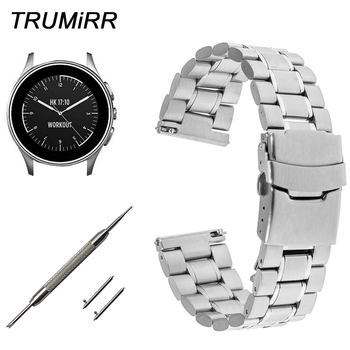 22mm Stainless Steel Watchband Quick Release Strap for Vector Luna Meridian Smart Watch Band Safety Buckle Bracelet Black Silver