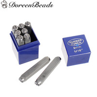 DoreenBeads 8mm Carbon Steel Number 0 9 Punch Metal Stamping Tools Rectangle Antique Pewter 6 5x1