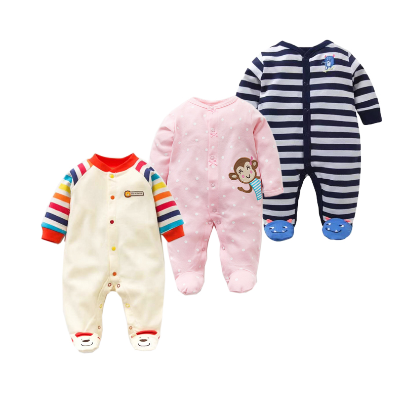 2018 spring - Autumn Baby Pajamas & Sleepwear Newborn Baby Girl   Romper   Baby Boys Clothes Cotton Infant Jumpsuit Baby   Rompers