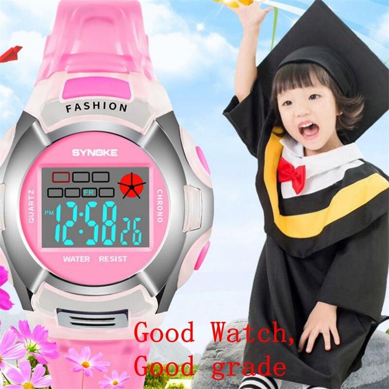 Sport Student Children Watches Boys Girls LED Digital Watches Child Casual PU Strap Electronic Wrist Watch Boy Girl Clock /DD