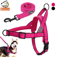 Nylon Adjustable Breathable Harnesses Leads Sets For Small Medium Large Dogs Husky