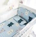 6 unids/set Estilo Americano Europeo Verano Fresco de Dibujos Animados de Algodón Elástico Ventilación Protectores de Cuna Sistemas Del Lecho Del Bebé