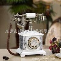 Caller ID antique telephone home fashion creative retro European rotating machine