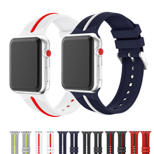 Soft silicone sports strap for apple watch band 42mm 38mm&for apple watch 4 band 40mm 44mm bracelet for iwatch Series 5 4 3 2 1 цена и фото