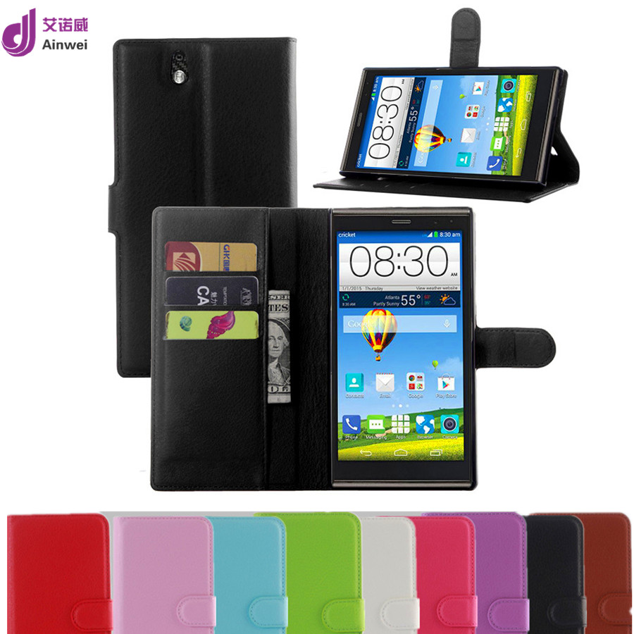 New luxury book style wallet leather CaseFor ZTE Grand X Max Z787 / Grand X Max+ flip cover with card slots holders 9 colors