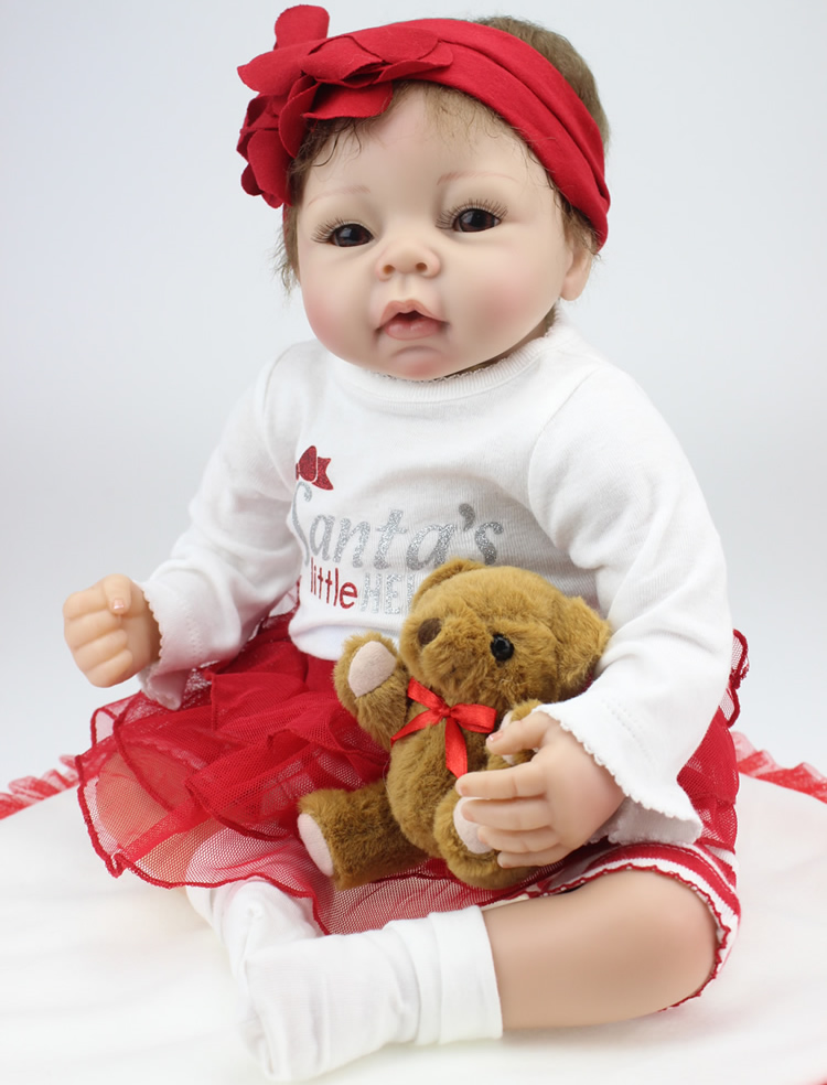 22Inches 55CM Silicone Reborn Baby Dolls Realistic Hobbies Handmade Brinquedos Newborn Doll BJD Doll Reborn Christmas Doll Gifts22Inches 55CM Silicone Reborn Baby Dolls Realistic Hobbies Handmade Brinquedos Newborn Doll BJD Doll Reborn Christmas Doll Gifts