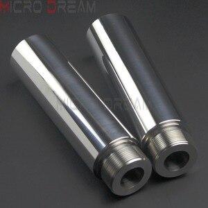 Image 2 - 1 Chrome Xe Máy Dĩa Ống Risers 5 Inch Nối Dài Cho Harley Dyna Glide FXD Sportster XL1200 XL883 39 Mm dĩa Ống