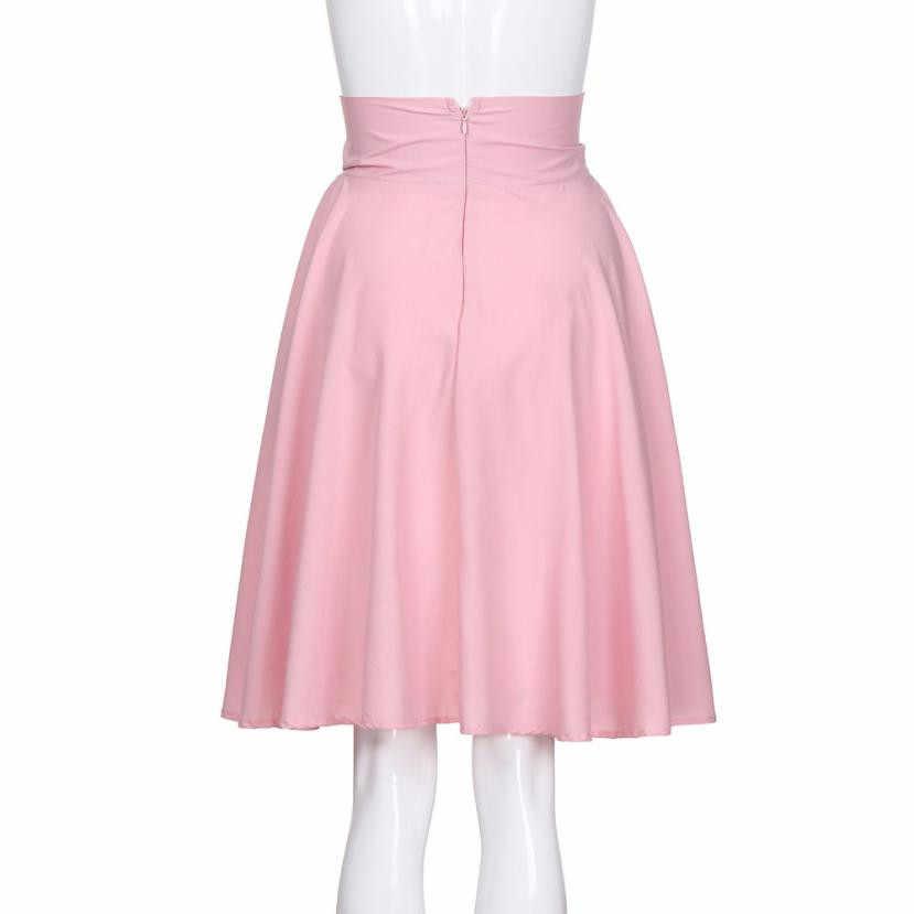KANCOOLD 2018 moda kobieta spódnice rokken vestidos stałe Flared Retro na co dzień do kolan plisowane Midi urząd pracy PJ0817