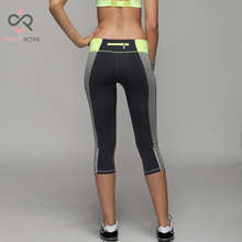 2016 Women yoga Pants Sport Fitness Running Tights Quick Drying Compression trousers Gym Slim Legging P004