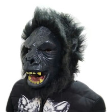 2018 Hot Selling Eco-friendly King black Lion Animal Mask For Halloween Costumes Party