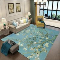 Boreal Europe Style Flowers 3D Printing Anti skid Carpet Of Large Size Sofa Tea Table Carpet Mat Christmas Decorations
