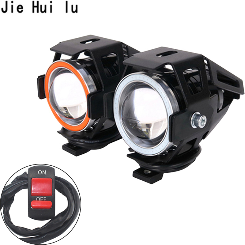 2pcs 10w Motorcycle Spotlight Bright Auxiliary Lamp U5 Chip Led Work Light Fog Light Car Accessories Motorcycle Bike Sale Price Professional Lighting