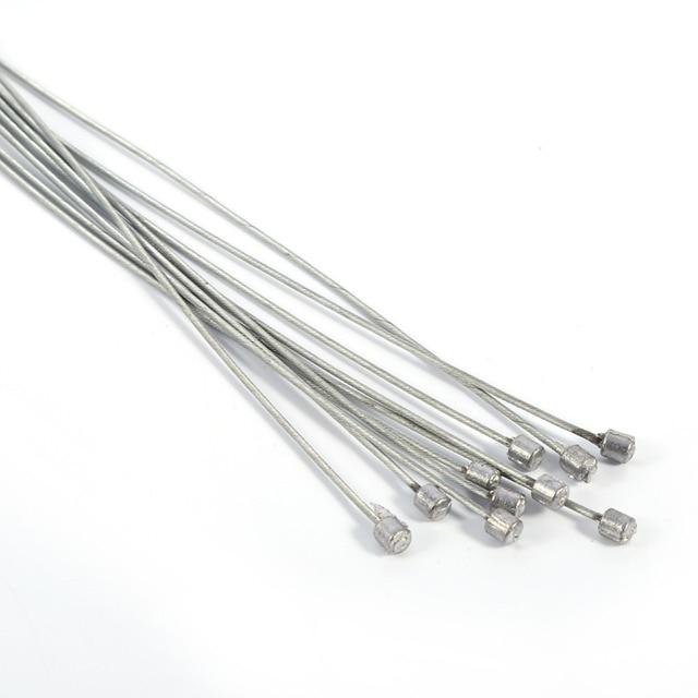 10 piezas 2 M cables de descarrilador de bicicleta de montaña cable de acero inoxidable bicicleta delantera y trasera freno interior bicicleta accesorios
