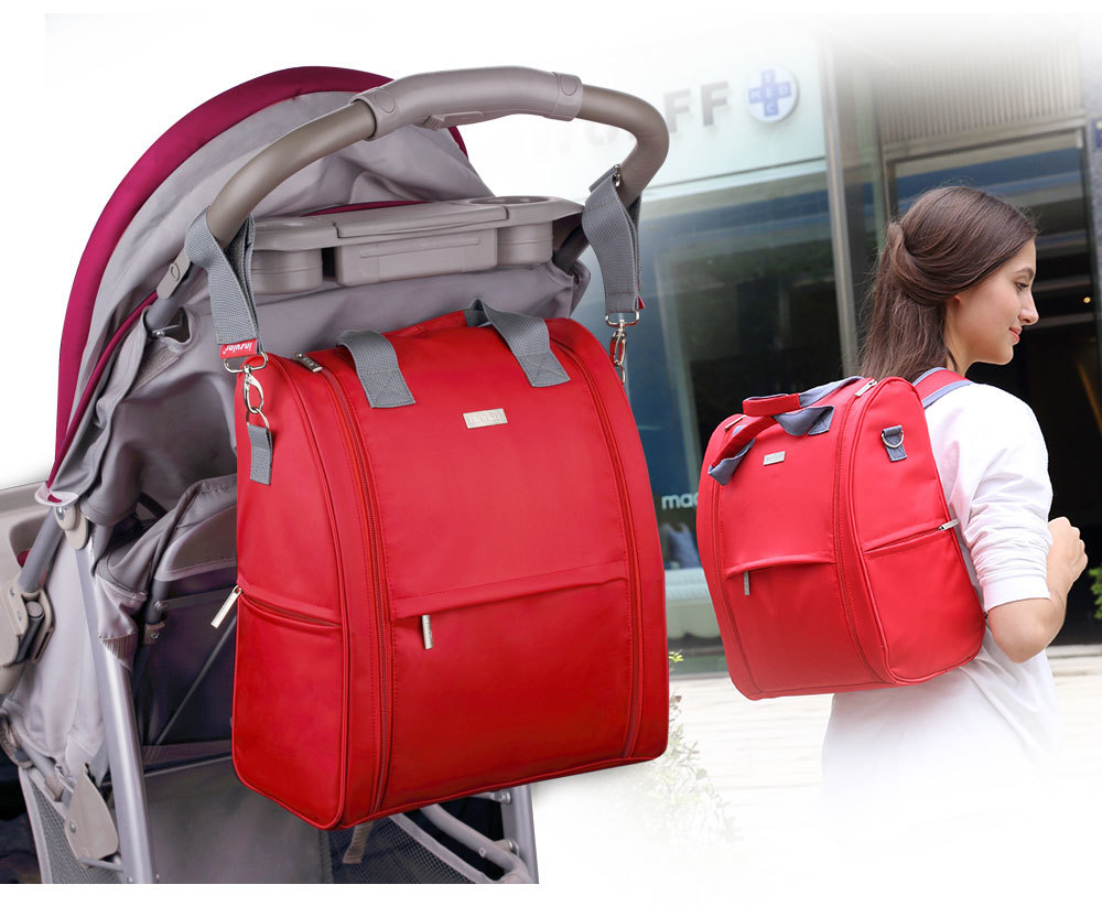 Insular Fashion Baby Diaper Bag Backpack Nylon Mommy Bag Nappy Bags Maternity Backpack Women Baby Stroller Diaper Bag Waterproof