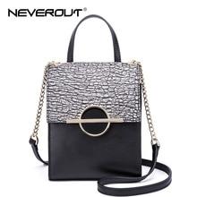 NeverOut Brand Design Women Bag Stone Pattern Split Leather Shoulder Bags Sac High Quality Messenger Bag Famous Crossbody Bags