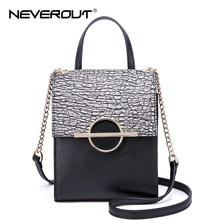 NeverOut Brand Design Women Bag Stone Pattern Split Leather Shoulder Bags Sac High Quality Messenger Bag Famous Crossbody Bags