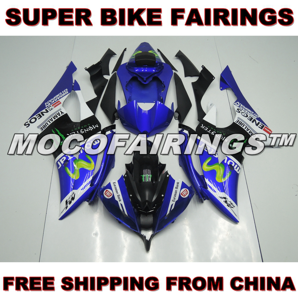 YZF R6 2008 2009 2010 2011 2012 2013 2014 Injection Plastic ABS Fairing Kit For Yamaha YZF-R6 ROSSI VR46 MOVISTAR