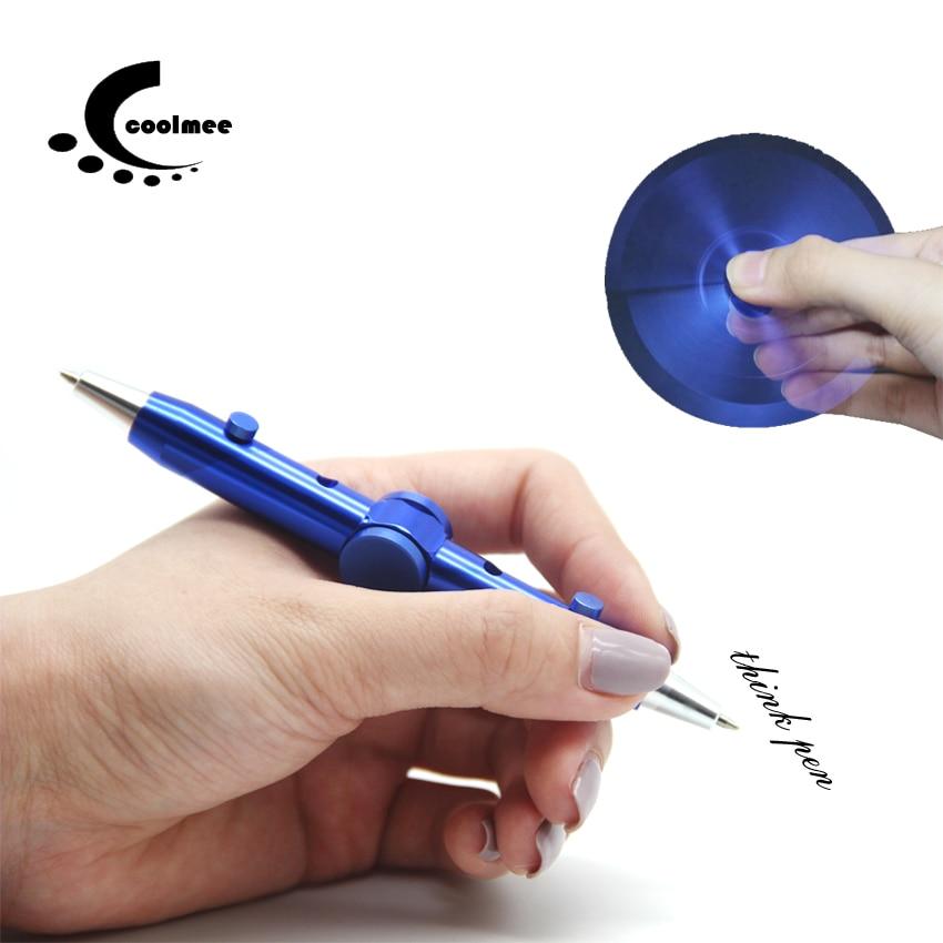 Fidget Spinner Metal Pen , Coolmee Novelty Fidget Spinner Anti Stress Pen For School Pen Interesting Funny Toys Ballpoint Pen