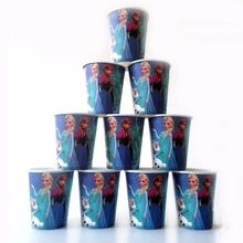 10pcs/lot Anna And Elsa Party Supplies Paper Cup kids Birthday Decoration Baby Shower For Kids Girls