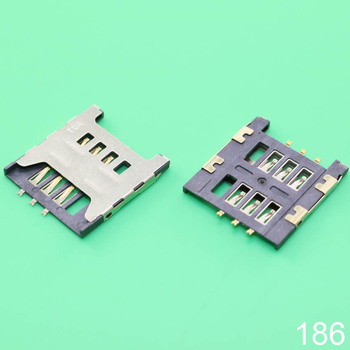 1x SIM card socket slot holder connector for Samsung GT E1200M E1200 I519 I939D I939i. size : 17.5*16 mm image