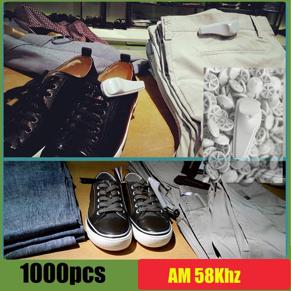 Kleidung Und Tasche Intellektuell Eas Super Tag Für Schuhe 58 Khz Anti-diebstahl-hartetikett Mit Pins X1000 Stück